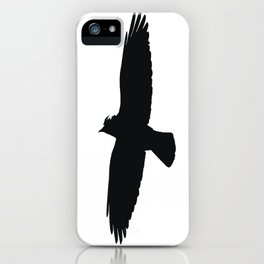 Jackdaw In Flight Silhouette iPhone Case