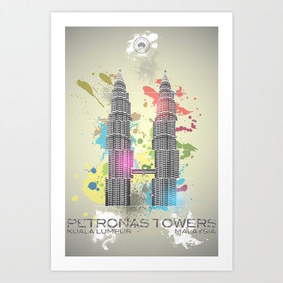 Petronas Towers Abstract Art Print