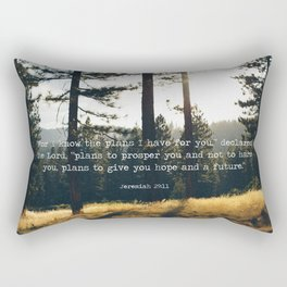 Golden Jeremiah 29:11 Rectangular Pillow