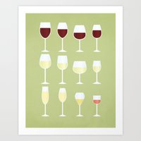 wine Art Prints featuring Wine by Sara Showalter