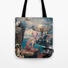 Birds with Cat Tote Bag