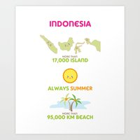 indonesia Art Prints featuring Indonesia by Franciska Windy