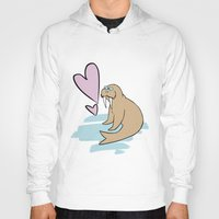 hippy Hoodies featuring Hippy Love Walrus by CatAstrophe