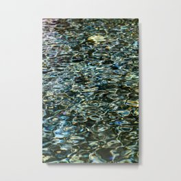 Mercurial Prismatic Waves Metal Print