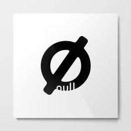 Null Metal Print