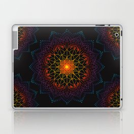 'Glowing Shamballa' Bohemian Mandala Black Blue Purple Orange Yellow Laptop & iPad Skin