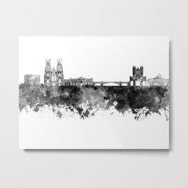 York skyline in black watercolor Metal Print