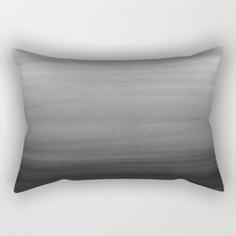 Touching Black Gray White Watercolor Abstract #1 #painting #decor #art #society6 Rectangular Pillow