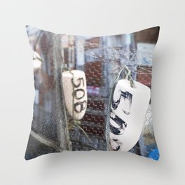 Jersey Buoys Throw Pillow
