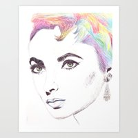 Vintage Colour Rainbow  Art Print