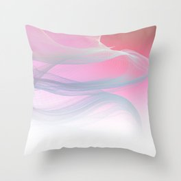 Flow Motion Vibes 1. Pink, Violet and Grey Throw Pillow