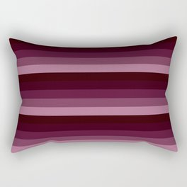 burgundy stripes Rectangular Pillow