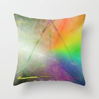 prism Throw Pillows featuring Prism by Randomleafy