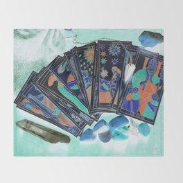 Tarot Card Mystical Gypsy Fortune Teller Fantasy Throw Blanket