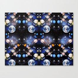 Vibrant mirrored Universe pattern Canvas Print