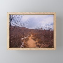 Hiking through Autumn Fields Framed Mini Art Print