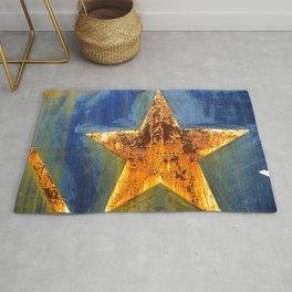 Rust Star Rug