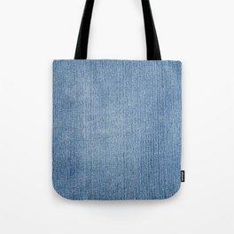 Faded Blue Denim Tote Bag
