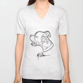#AveryTheBoxer (M. Clement The Artist Logo) Unisex V-Neck
