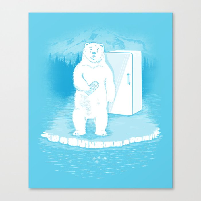 Save the polar bears, make more ice cubes. Canvas Print