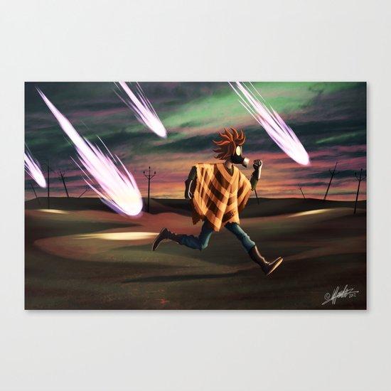 Air Raid in the Battlefield Canvas Print