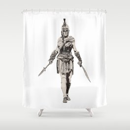 collosal lady Shower Curtain