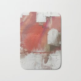 California Sun [2]: a minimal, abstract piece in reds and gold by Alyssa Hamilton Art Bath Mat