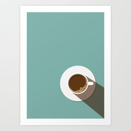 Coffee Break in a Flat Design Art Print