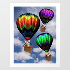 Up up and away.. Art Print