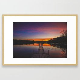 Adirondack Sunset Framed Art Print