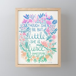 Little & Fierce – Lavender Mint Ombré Framed Mini Art Print