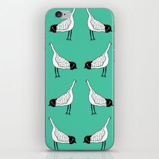 Bird Mirror Repeat - Turquoise iPhone Skin