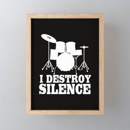 I destroy silence. Framed Mini Art Print