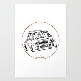 Crazy Car Art 0076 Art Print
