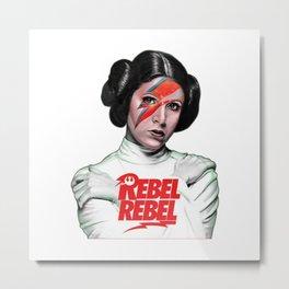 Princess Leia Rebel Metal Print