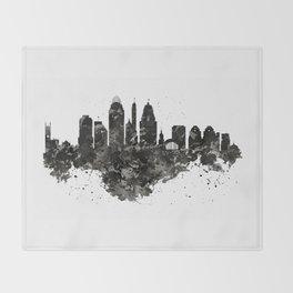 Cincinnati Skyline Black and White Throw Blanket