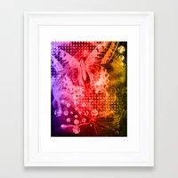 tye dye Framed Art Prints featuring Tye-Dye Butterfly by Rushni