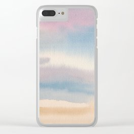 Abstract Watercolor Landscape Clear iPhone Case
