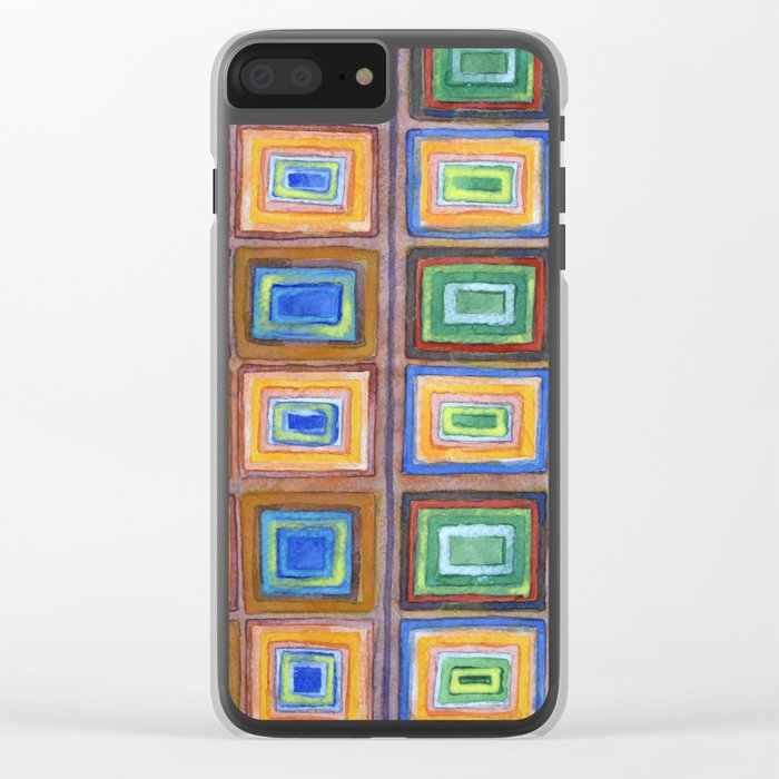 The two Sides of a Check Pattern Clear iPhone Case