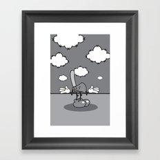 Mister hatchet's a little careless Framed Art Print