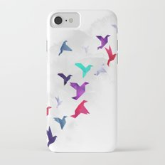 Paper birds iPhone 7 Slim Case