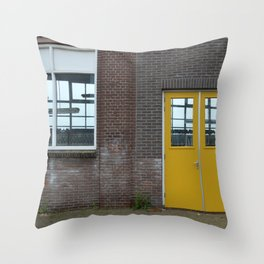 Yellow doors Throw Pillow