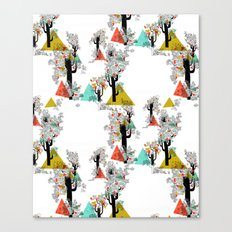 Tree Triangles Canvas Print