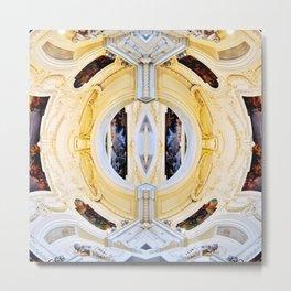 Plafond Kaléidoscope Metal Print