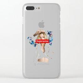 Iggy Azalea Supreme tshirt Clear iPhone Case