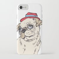 pug iPhone & iPod Cases featuring Pug by Madmi