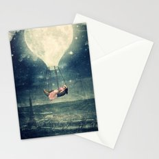 Moon Reverie over Paris Stationery Cards