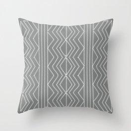 Grey White Arrows Geometric Pattern Throw Pillow