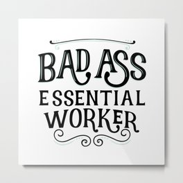 Celebrate Essential Workers Metal Print