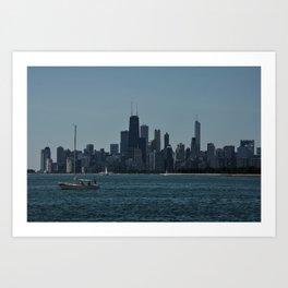 Sail Chicago Art Print